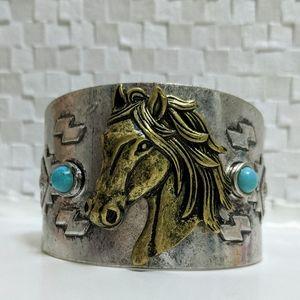 Jewelry - Western Horse Wide Cuff Bracelet